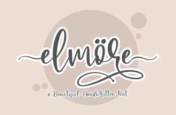 Elmore Calligraphy Font
