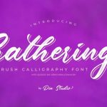 Gathering Brush Font