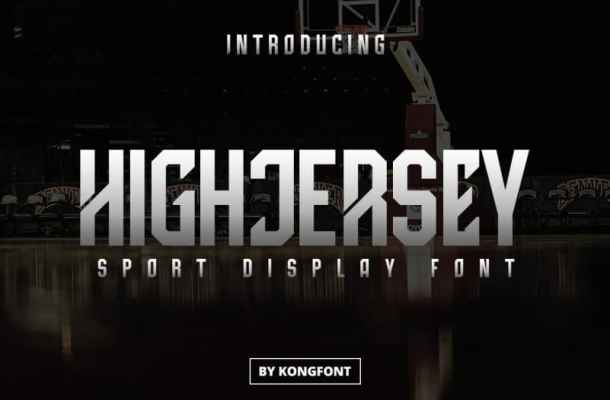High Jersey Display Font
