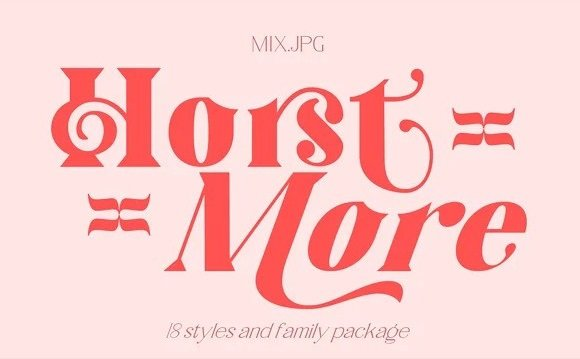 Horst More Serif Font Demo