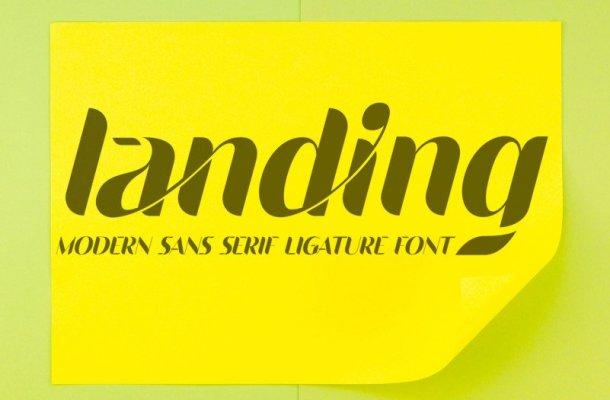 Landing Sans Serif Font