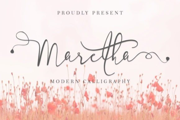 Maretha Calligraphy Font