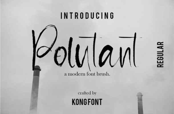 Pollutant Brush Font