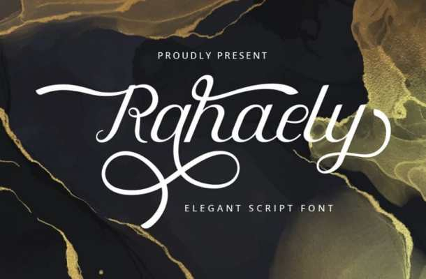 Rahaely Calligraphy Font