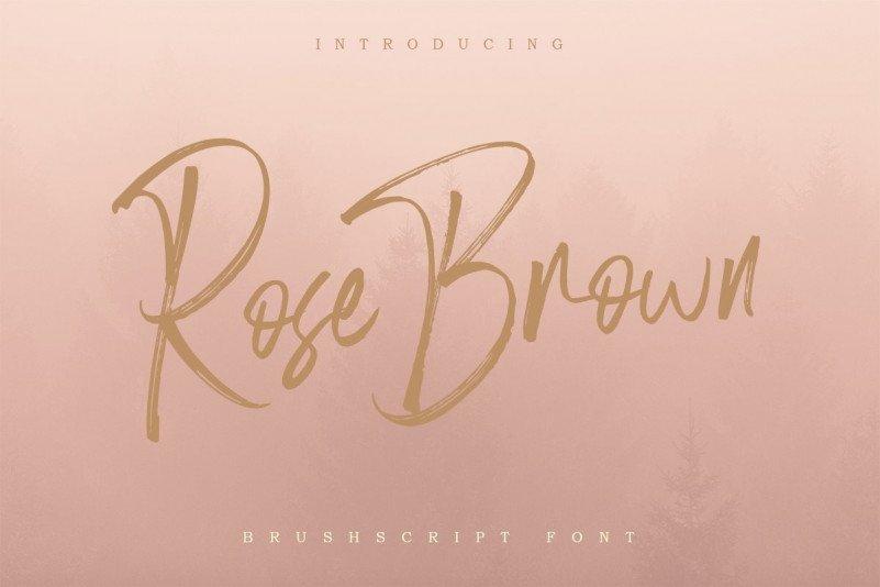 rose-brown-font-4