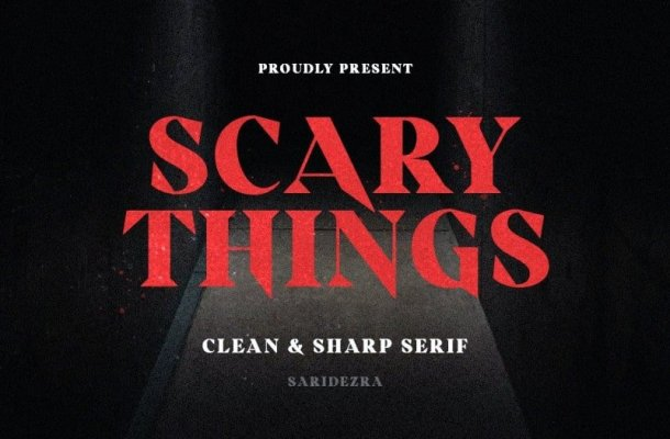 Scary Things Serif Font