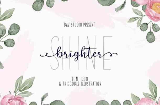 Shine Brighter Script Font Duo