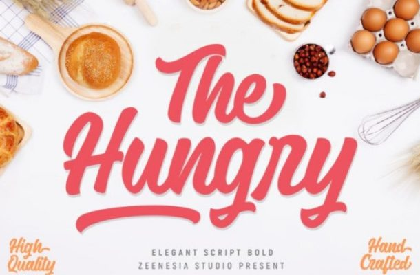 The Hungry Script Font
