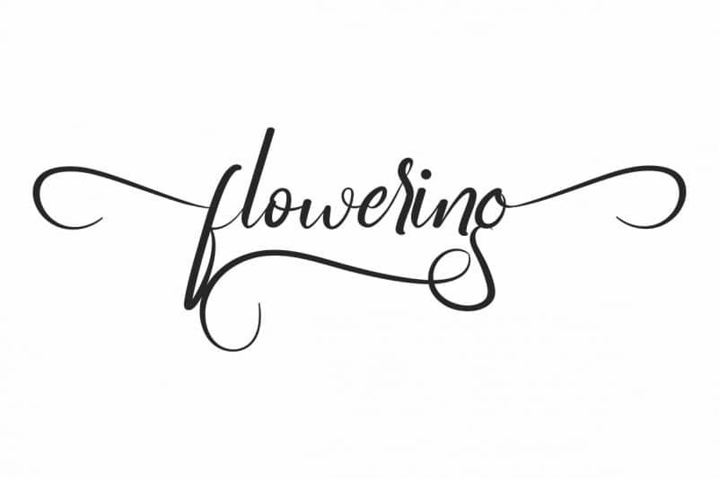 Flowering Script Font