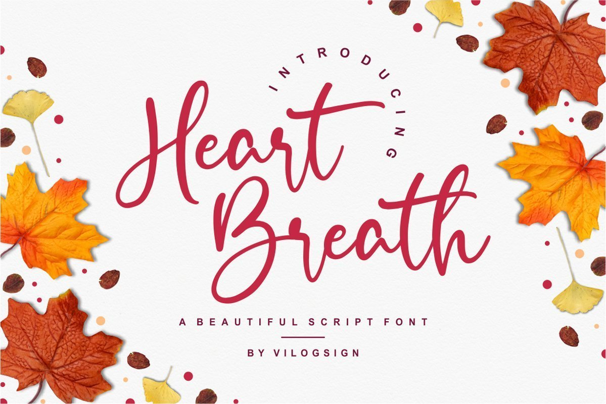 Heart-Breath-Font