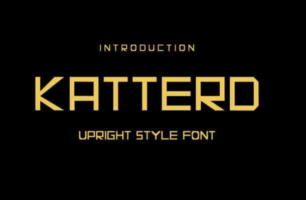 KATTERD Display Font