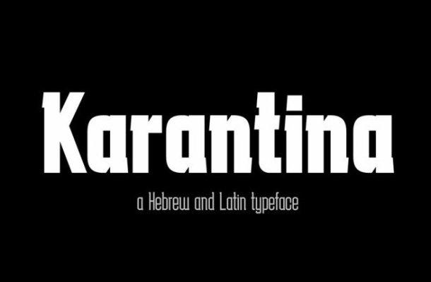 Karantina Slab Serif Font