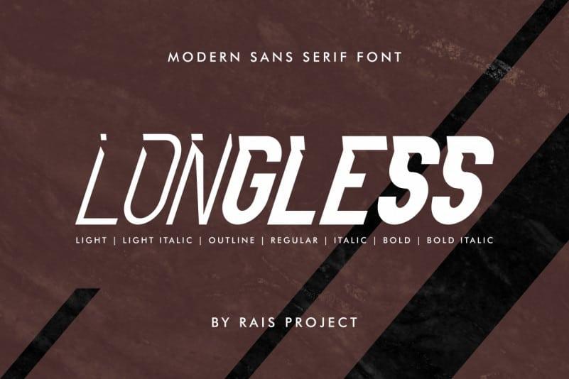 Longless Sans Serif Font