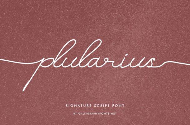 Plularius Signature Script Font