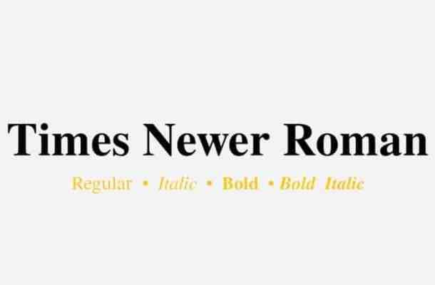 Times Newer Roman Serif Font