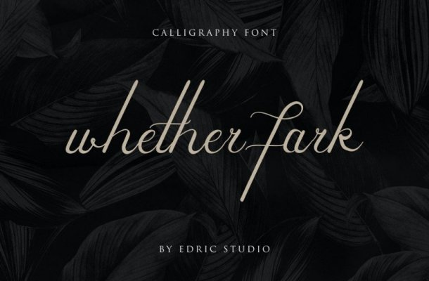 Whether Fark Signature Font
