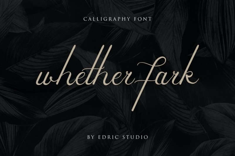 Whether Fark Signature Font