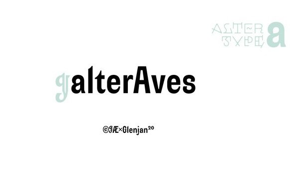 Alter Aves Sans Serif Font Demo