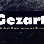 Gezart Sans Serif Font Demo