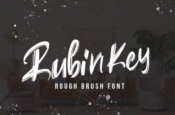 Rubin Key Brush Font
