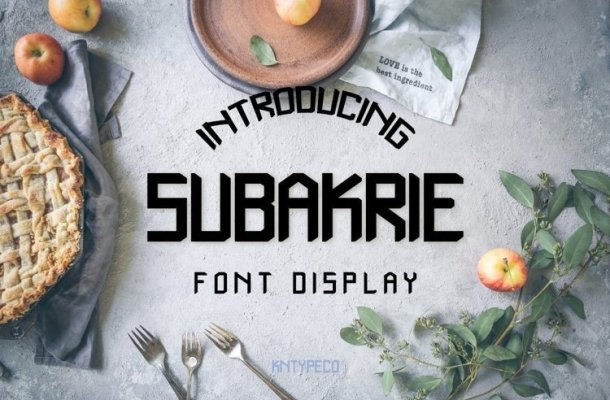 Subakrie Display Font