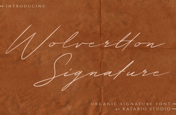 Wolvertton Signature Font