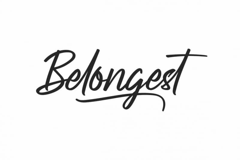 Belongest Calligraphy Font