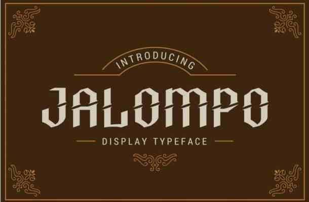 Jalompo Font