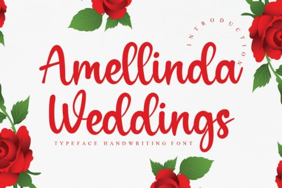 Amellinda Weddings Font