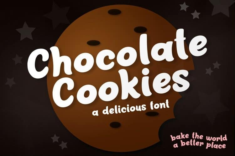 chocolate-cookies-font-4