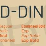 D-DIN Font