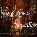 Meghatone Font