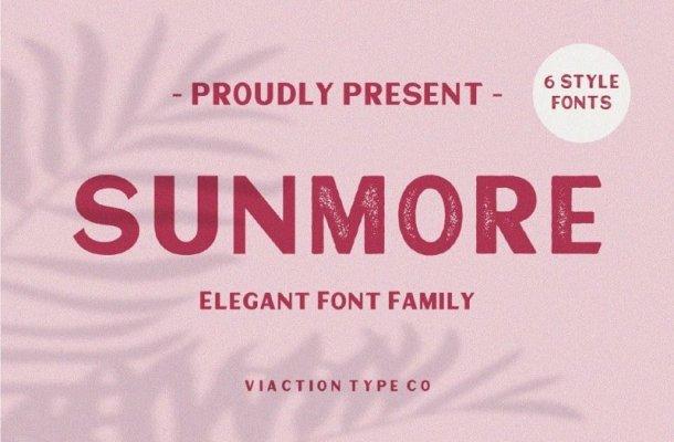 Sunmore Slant Font