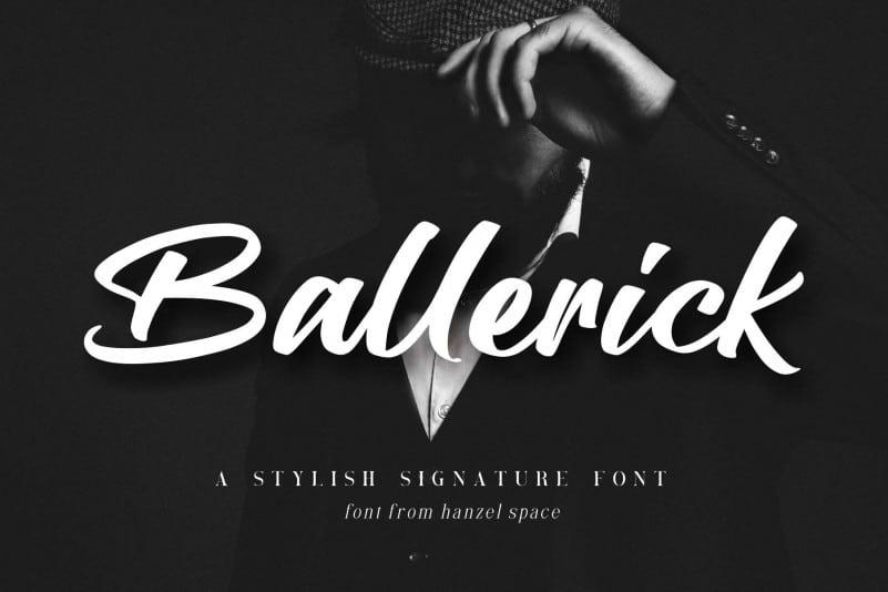 Ballerick Brush Font