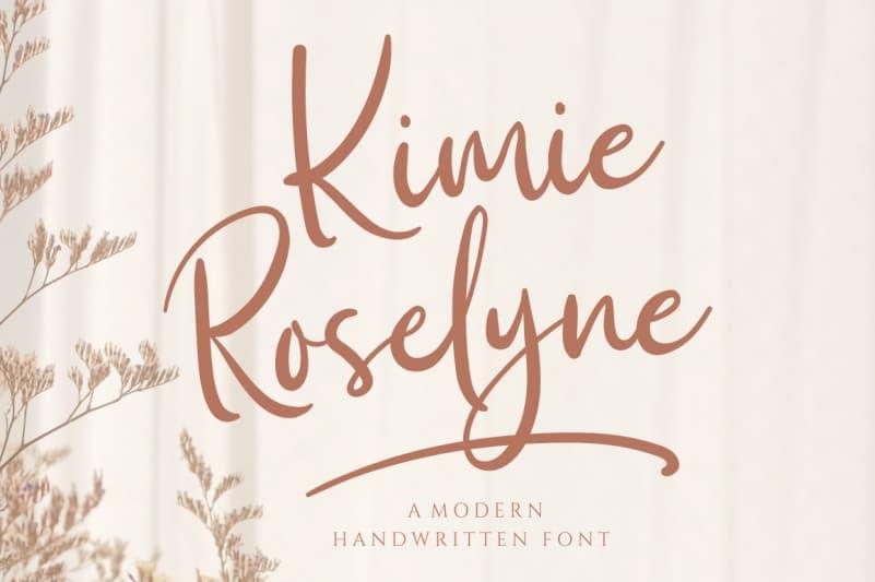 Kimie Roselyne Script Font