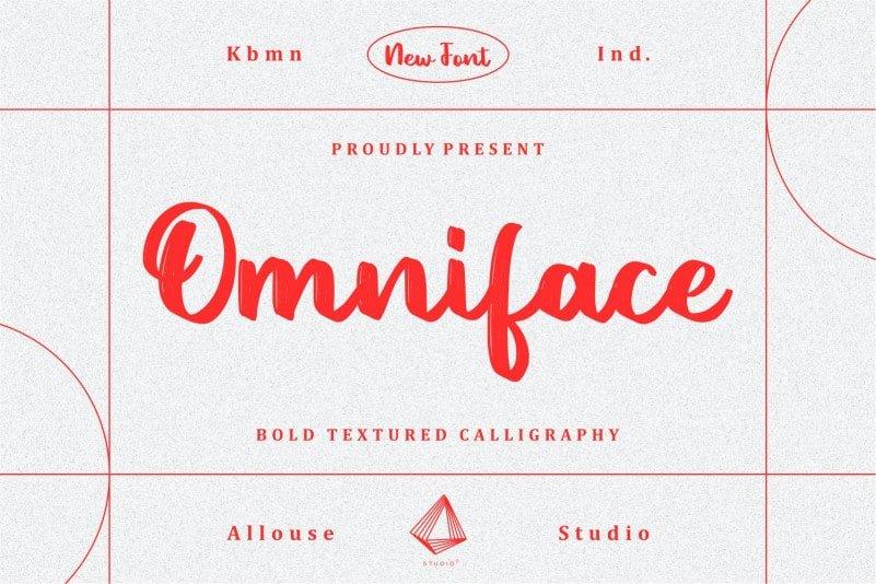 Omniface Script Font