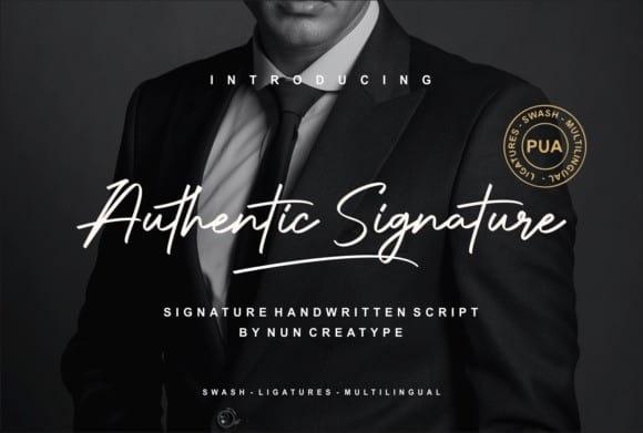 Authentic Signature Font