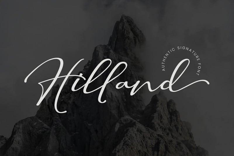 hilland-script-font