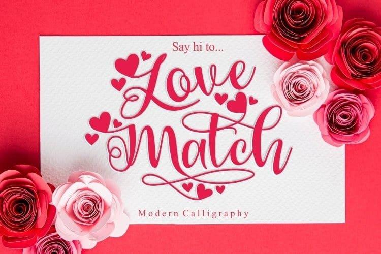 love-match Font