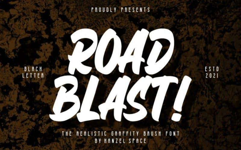 road-blast-font-3