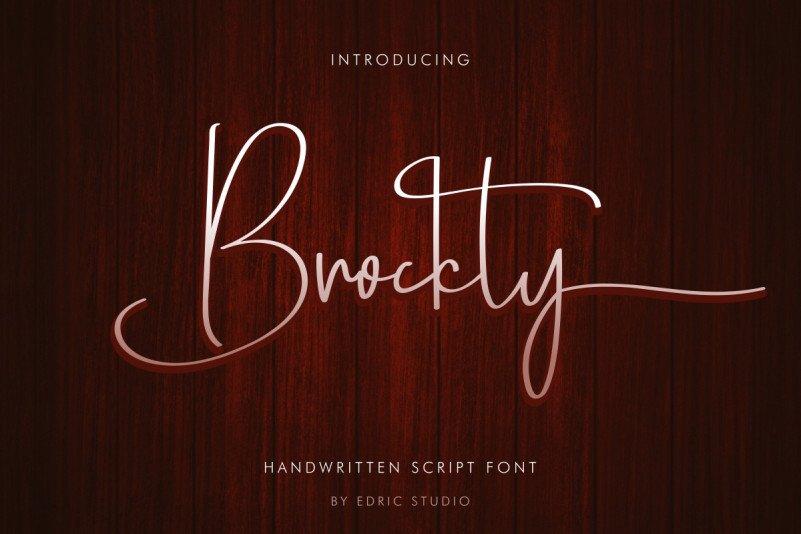 Brockly Script Font