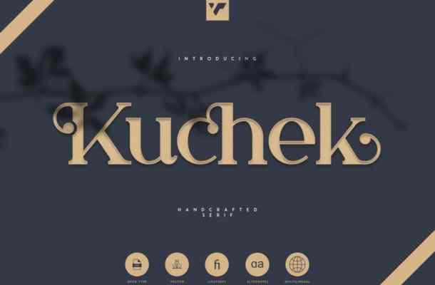 Kuchek Handcrafted Font