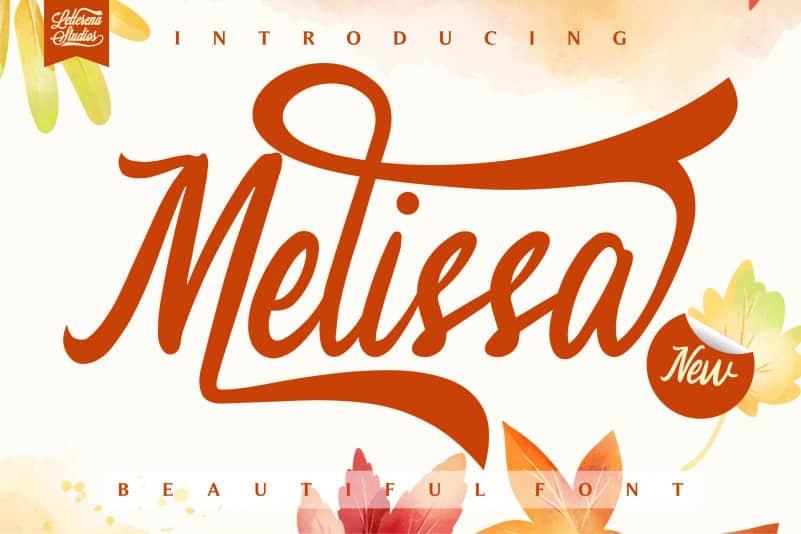 Melissa – Script Font