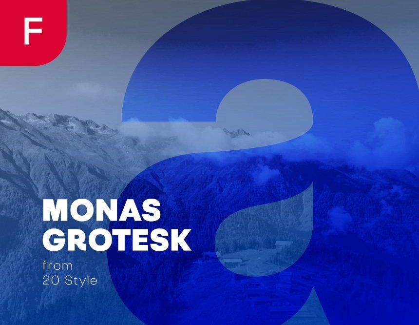 Monas Grotesk Sans Serif Font