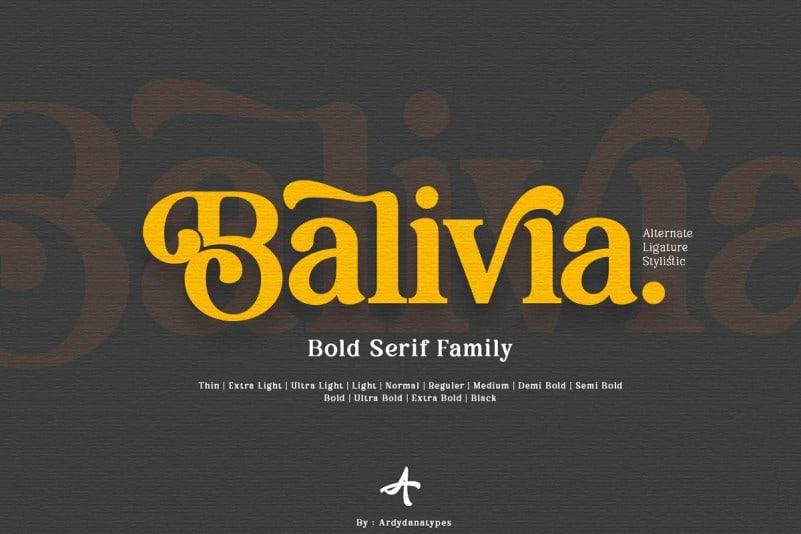 balivia Font