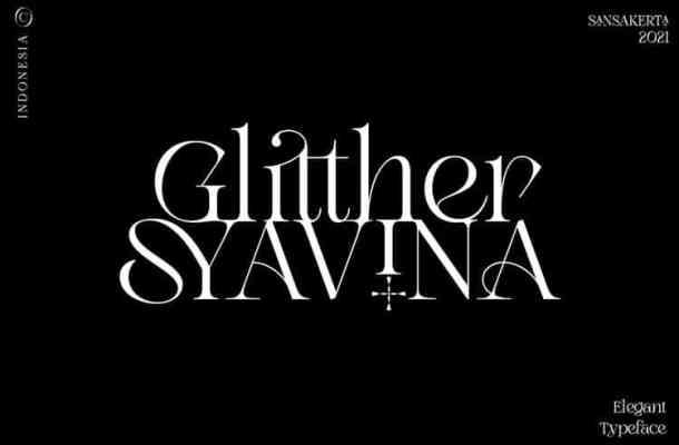Glitther Syavina Font