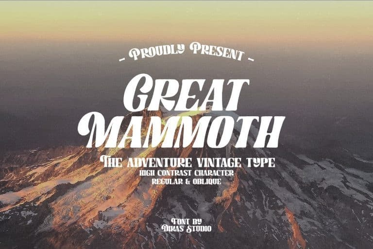 great-mammoth Font