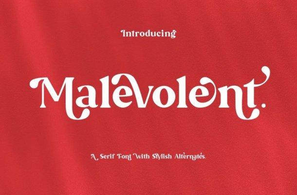 Malevolent Font