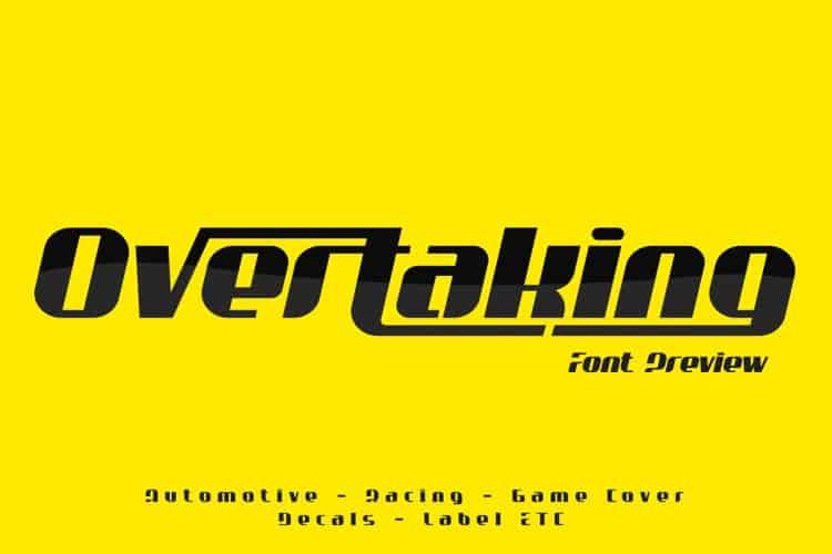 overtaking-font