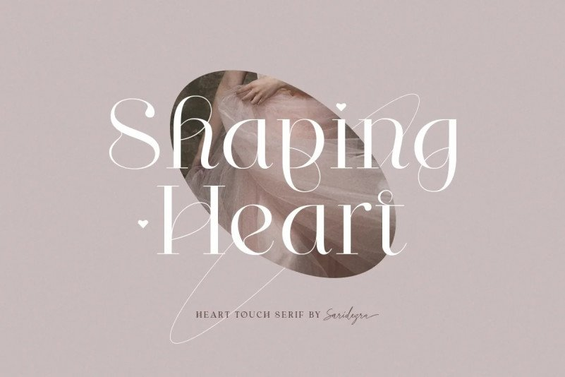 shaping-heart font
